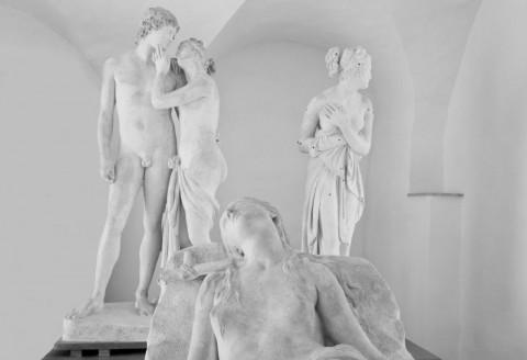 Antonio Canova, Maddalena giacente, 1819-1822 (part.), Venere e Adone, 1789-1794, Venere Italica, 1804. Foto Robert Pettena