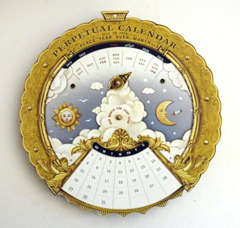 Calendario perpetuo prodotto da Crankbunny