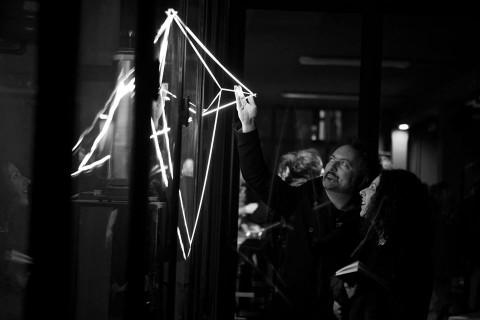 Carlo Bernardini – Coordinate invisibili – veduta della mostra presso Atipografia, Arzignano 2015 – photo Luca Peruzzi