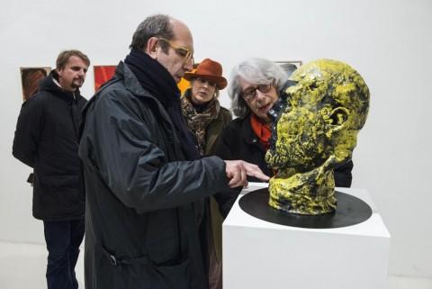 Gianni Dessì - Dentro e Fuori - veduta dell'inaugurazione presso la Fondazione Pastificio Cerere, Roma 2015 - Gianni Dessì