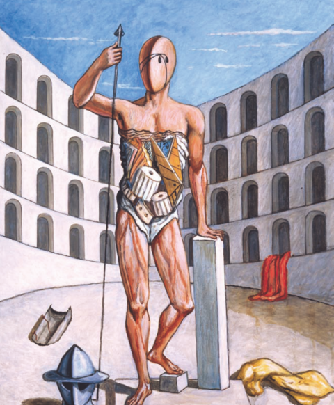 Giorgio de Chirico, Gladiatore nell'arena, 1975 - Fondazione Giorgio e Isa de Chirico, Roma