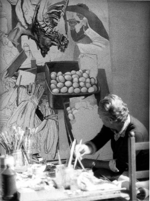 Guttuso dipinge La Vucciria - Velate 1974 -® Guttuso by SIAE 2015