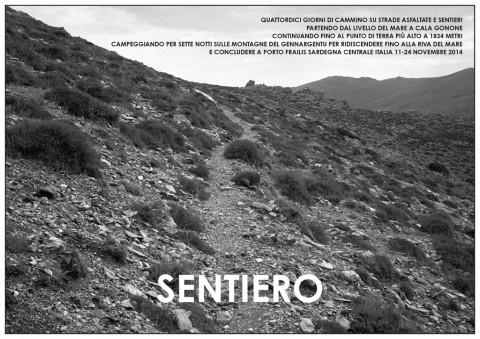 Hamish Fulton, Sentiero. Sardinia, 2014