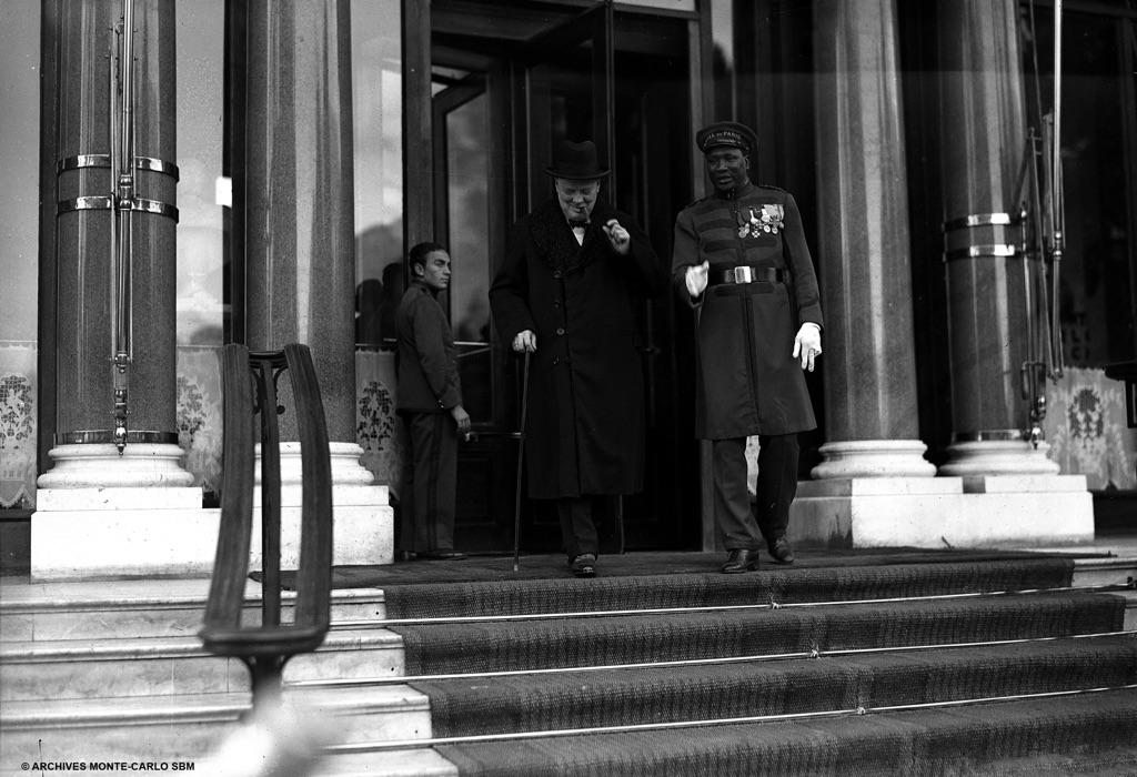 Hotel de Paris - Winston Churchill nel 1960 - photo Robert Oggero Archives SBM