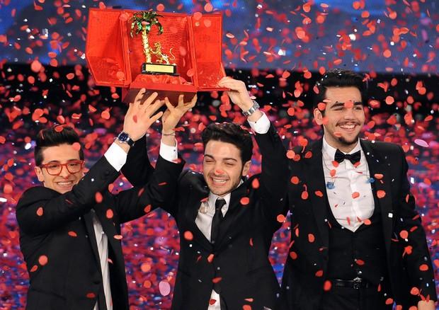 Il Volo, trio vincitore del Festival di Sanremo 2015 (foto Ansa)