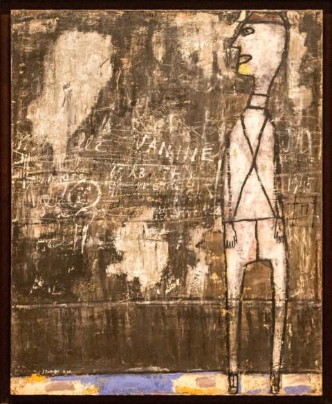 Jean Dubuffet, Mur aux inscriptions (1945)