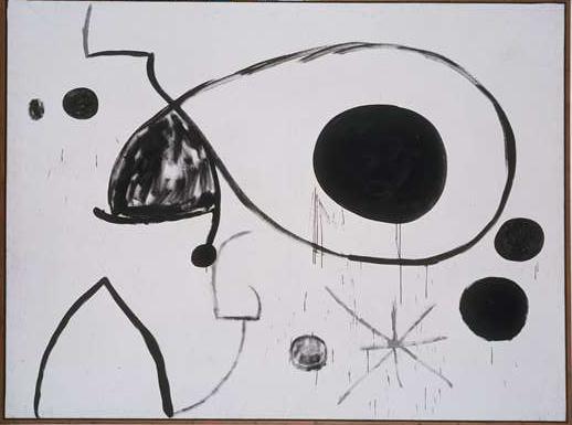 Joan Miró, L'uccello prende il volo verso l'isola deserta, 1966 - Fundació Pilar i Joan Miró a Mallorca - © Successió Miró by SIAE 2014 - Foto © Joan Ramon Bonet & David Bonet