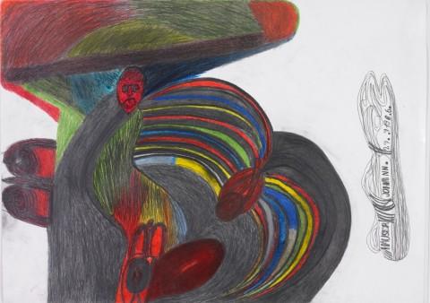 Johann Hauser, Woman, 1986 - Courtesy Privatstiftung-Künstler aus Gugging