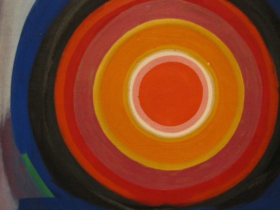Kenneth Noland, Untitled, 1958, particolare