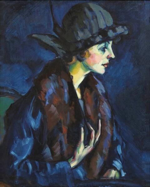 Konrad Mägi, Ritratto di donna, 1922-24