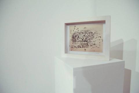 Leonardo Sinisgalli – Elogio dell'entropia. Carte assorbenti 1942-1976 - veduta della mostra presso la GABA.MC, Macerata 2015