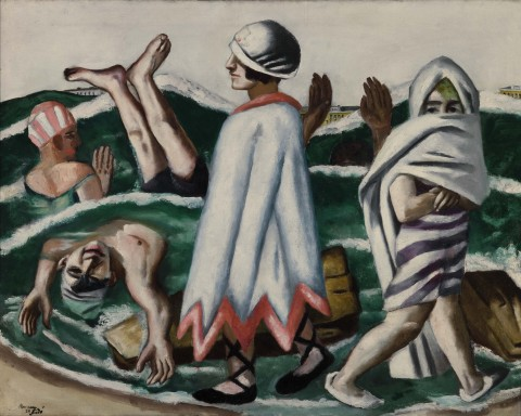 Max Beckmann, Lido, 1924 - Saint Louis Art Museum, Bequest of Morton D. May - © Max Beckmann by, SIAE 2015