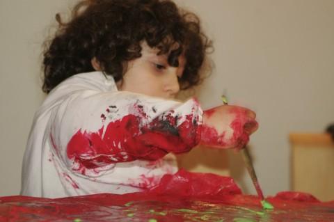 Museo Madre - FamigliaMadre#2 - bambino dipinge