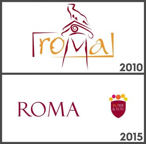 Roma nel 2010 e nel 2015