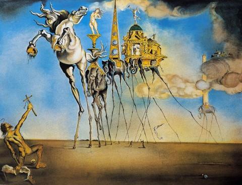 Salvador Dalí, La tentazione di Sant'Antonio, 1946
