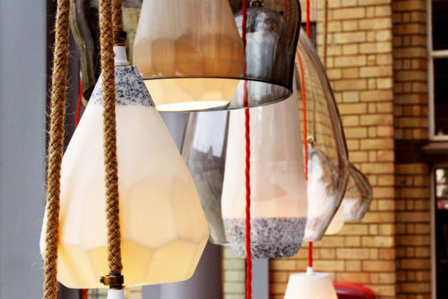 Speackled Grey, Facet Lamp Collection