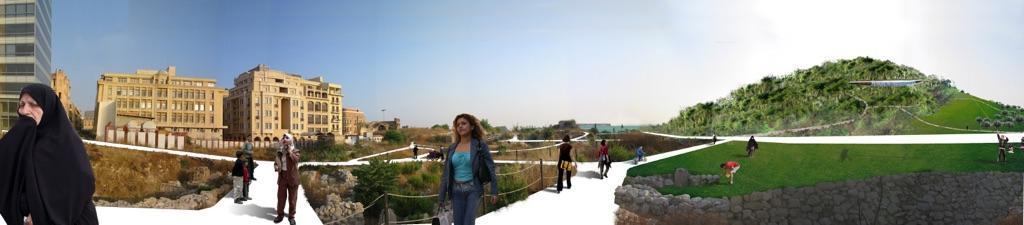 Steven Holl, in collaborazione con il gruppo L.E.FT, Piazza dei Martiri, Beirut