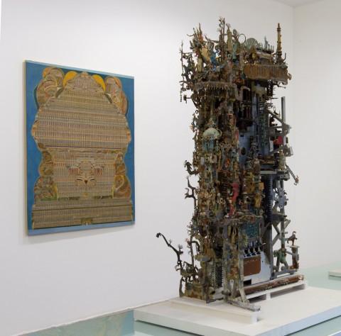 Un dipinto di Augustin Lesage e una scultura di A.C.M - abcd art brut