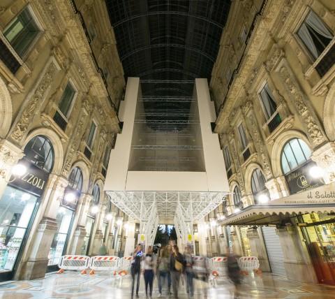 Il portale semovente in Galleria visto dal piano calpestabile
