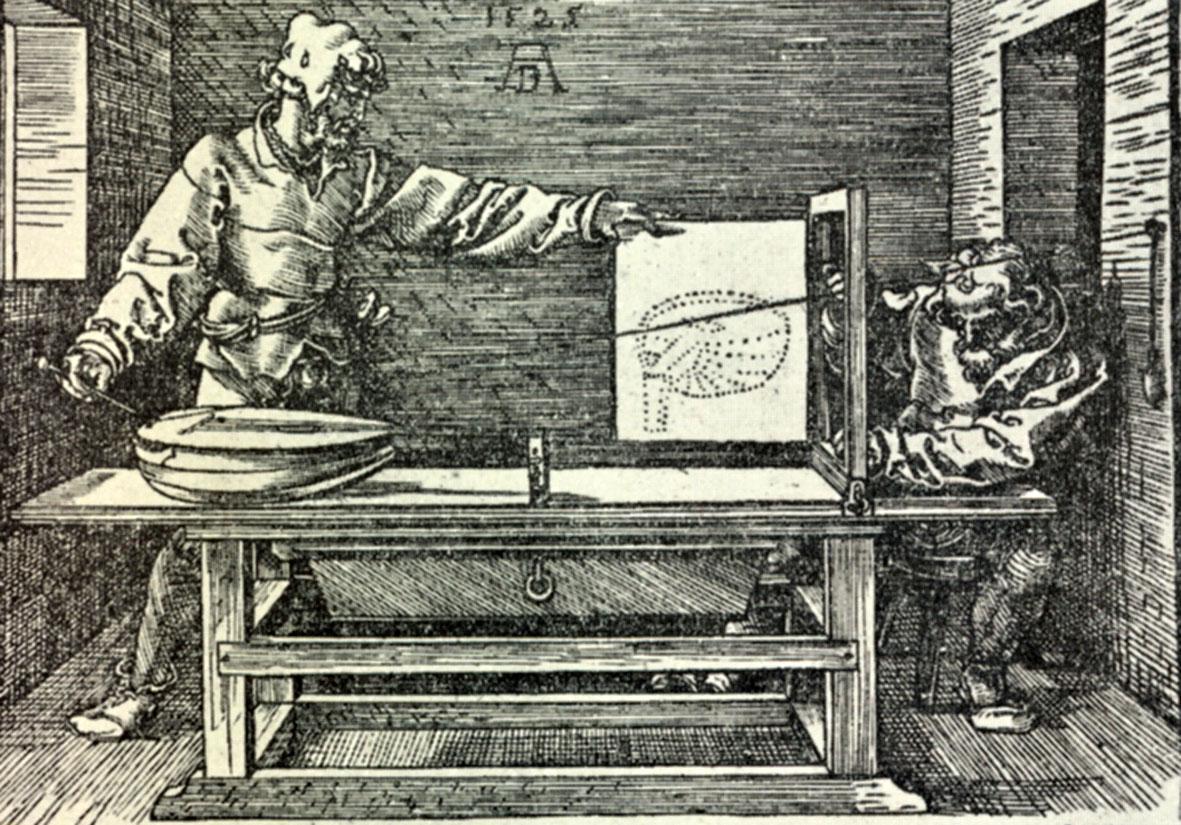 Albrecht Dürer, Lo sportello, 1525 ca. - Gabinetto disegni e stampe degli Uffizi, Firenze