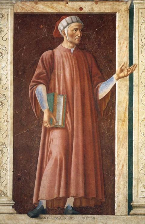 Andrea del Castagno, Dante Alighieri, 1450 ca. - San Pier Scheraggio, Firenze