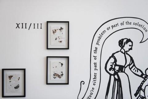 Chiara Fumai, Der Hexenhammer, 2015 - Courtesy of the artist & A Palazzo Gallery, Brescia – veduta dell'installazione a Museion, Bolzano 2015