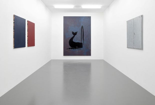 Claire Fontaine, Untitled (Begging painting), Black Whale e Untitled (Trap) - courtesy of the artist and T293, Napoli-Roma - photo Roberto Apa
