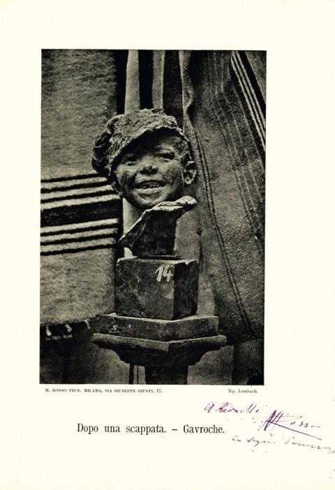 Fotografo non identificato, Medardo Rosso, Dopo una scappata ‐ Gavroche - Fondo Lamberto Vitali, L.V.921 - Civico Archivio Fotografico del Castello Sforzesco - © Civico Archivio Fotografico, Milano