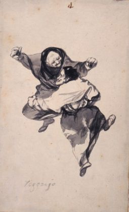 Francisco de Goya, Regozijo, Witches and Old Women Album, 1819-23 ca. – New York, The Hispanic Society of America