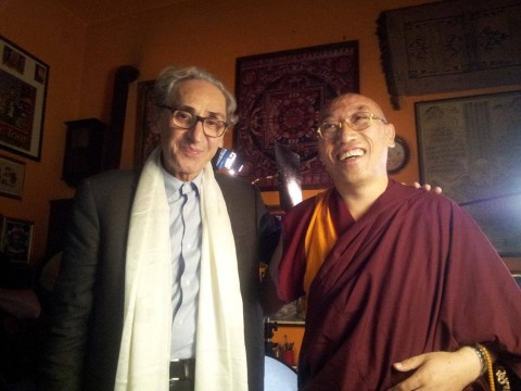 Franco Battiato con Geshe Jampa Gelek