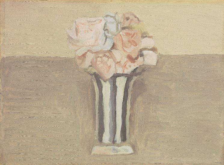 Giorgio Morandi Fiori olio su tela 1950 1951 cm 26 x 352 Collezione privata