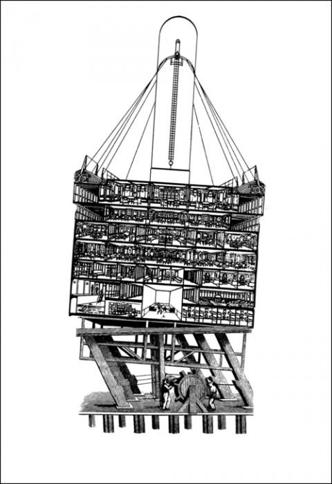 Gli Impresari, La Grande Macchina, dalla serie Trucs et décors, Stampa su carta, 2014