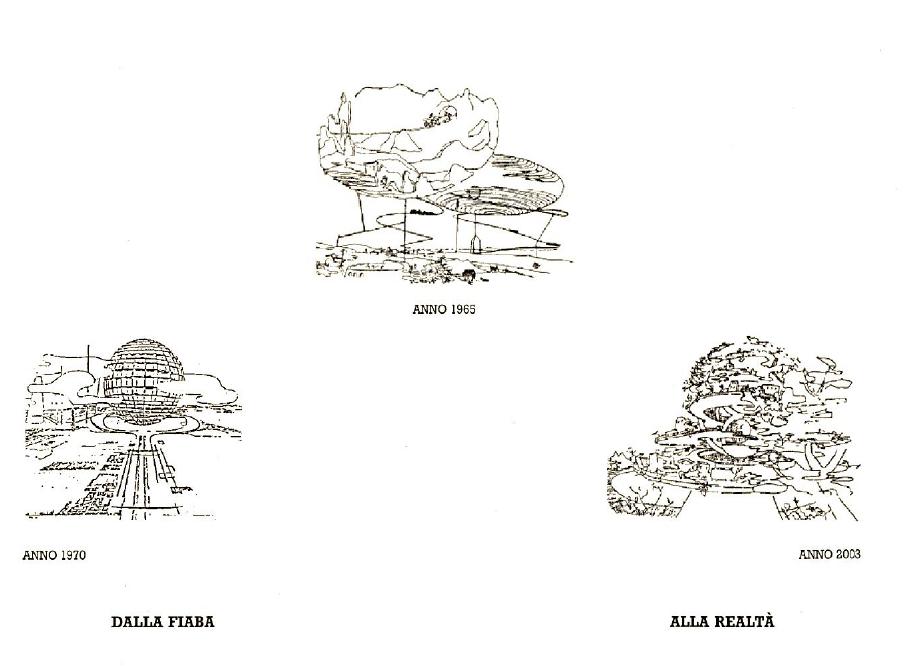 Guglielmo Mozzoni, disegni della Città Ideale. © Archivio Guglielmo Mozzoni - Varese