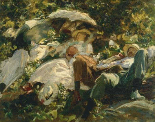 John Singer Sargent, Group with Parasols,1904-05 ca. - © collezione privata