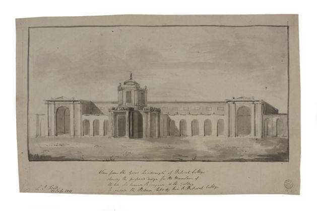 John Soane, Perspective of the East Front of Dulwich Picture Gallery, 1812