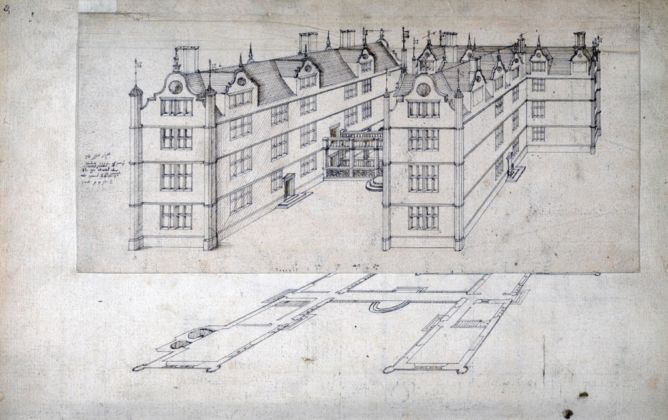 John Thorpe, 'IT' House from the Thorpe Album, 1580 ca.