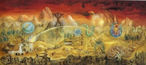 Leonora Carrington, Il magico mondo dei maya, 1964
