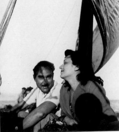 Lina e il marito sulla nave - Courtesy Instituto