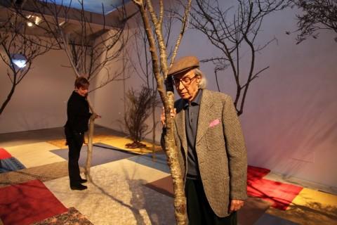 Luca Maria Patella, Alberi parlanti, 1971-2014 - ricostruzione dell'installazione del 1971 - Fondazione Morra, Napoli – veduta dell'allestimento al Macro, Roma 2015