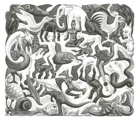 Maurits Cornelis Escher, Plane Filling II