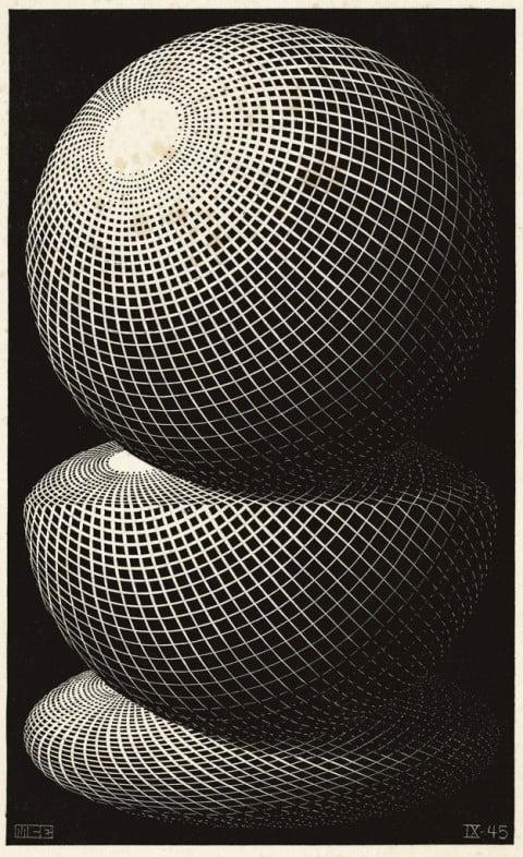 Maurits Cornelis Escher, Tre sfere I