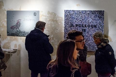Opiemme – Vortex - veduta della mostra presso la Galleria Portanova12, Bologna 2015 - photo Mario Covotta