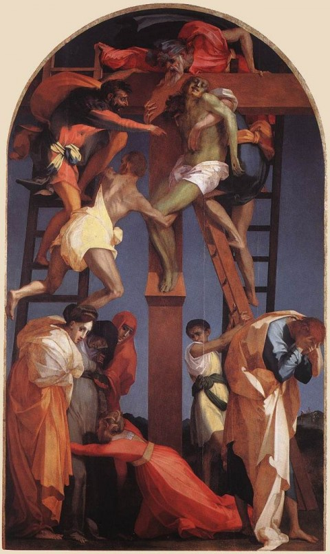 Rosso Fiorentino, Deposizione dalla croce, 1521 - Pinacoteca e Museo Civico, Volterra