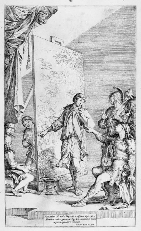 Salvator Rosa, Alessandro Magno nello studio di Apelle, 1662 ca. - Roma, Istituto Centrale per la Grafica