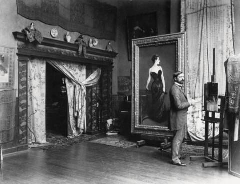 Sargent nel suo studio, 1884 - © collezione privata