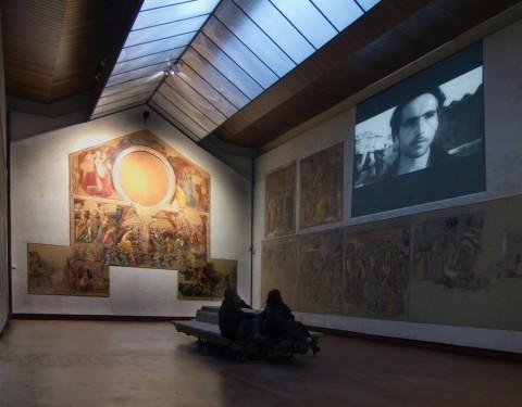 Too early, too late. Modernity and Middle East - veduta della mostra presso la Pinacoteca Nazionale di Bologna, 2015 - photo Amir Yatziv