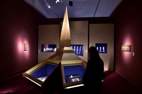 Arte lombarda dai Visconti agli Sforza - veduta della mostra presso Palazzo Reale, Milano 2015
