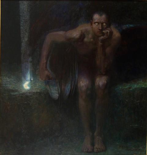 Franz  von Stuck,  Lucifero, 1889-1890, Sofia, The National Gallery for Foreign Art