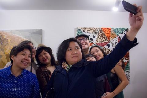 Jamie Martinez - Hunt for Inspiration - veduta dell'opening presso la Galerie Protégé, New York 2015 - photo Olya Turcihin