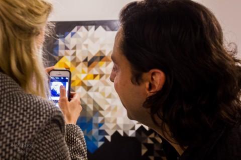 Jamie Martinez e Monique Mantell all'opening presso la Galerie Protégé, New York 2015 - photo Olya Turcihin